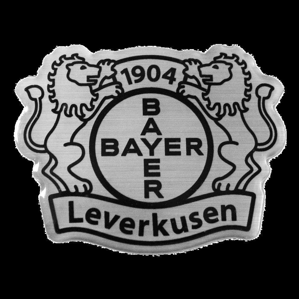 Sticker 3D, emblem, silver | Bayer 04 Leverkusen Fanshop