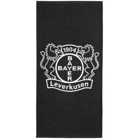 shower towel with Bayer 04 logo