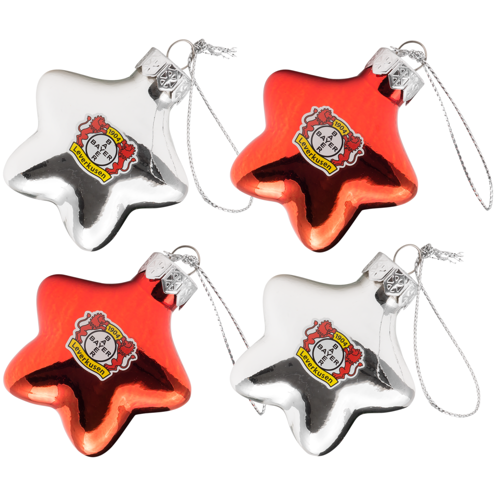 Shop Weihnachtskugeln.Christmas Baubles Set Of Four Bayer 04 Leverkusen Fanshop