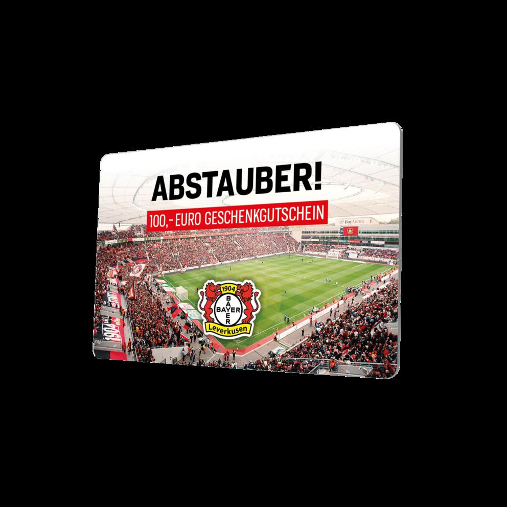 Gutscheinkarte.Gutscheinkarte 100 Bayer 04 Leverkusen Fanshop