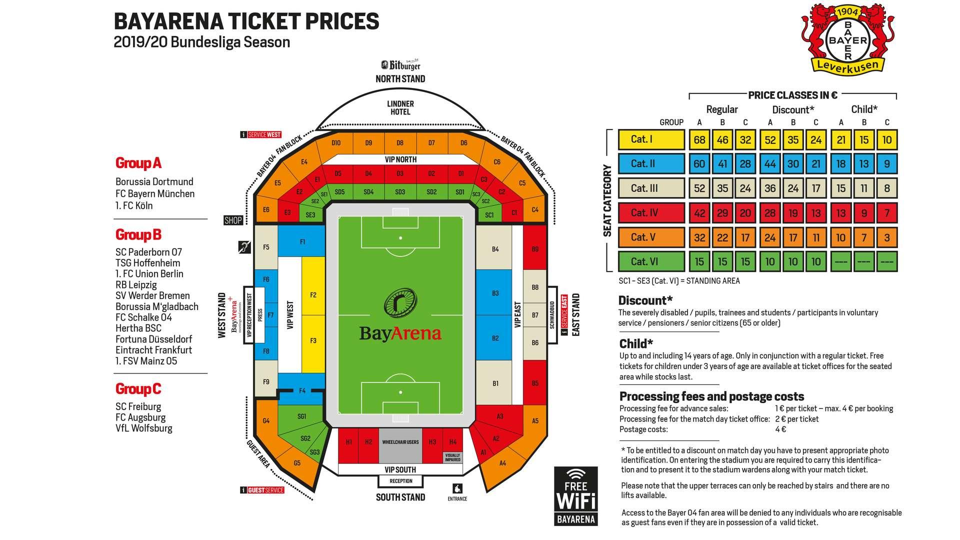 Ticket prices | Bayer 04 Leverkusen