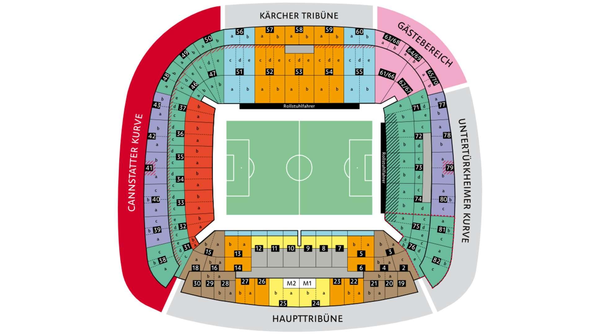 Vfb Stuttgart Stadionplan